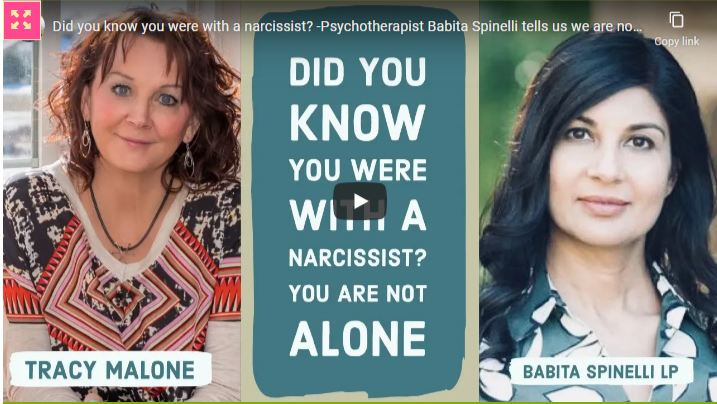 Did You Know You Were With A Narcissist? -Psychotherapist Babita Spinelli Tells Us We Are Not Alone